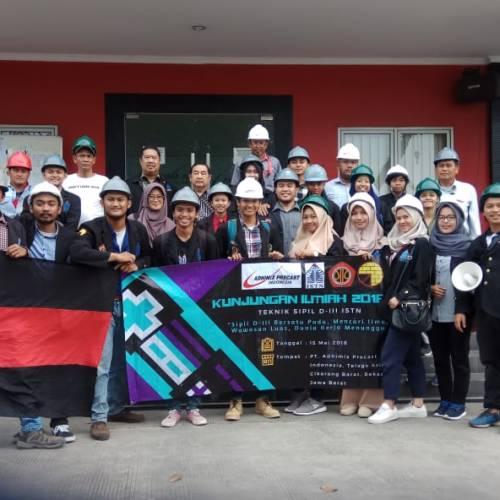 Kunjungan Mahasiswa Teknik Sipil D3 Ke PT. Adhimix
