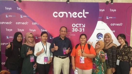 Mahasiswa/i Prodi Teknik Informatika, Sistem Informasi, Fisika & Matematika FSTI-ISTN berpartisipasi dalam CONNECT 2019