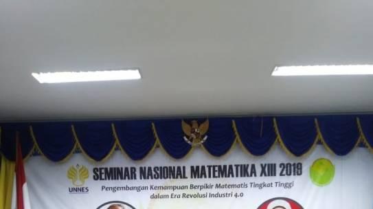Dosen Prodi Matematika (FSTI) ISTN Seminar Nasional Matematika XIII 2019 di Fakultas MIPA Universitas Negeri Semarang