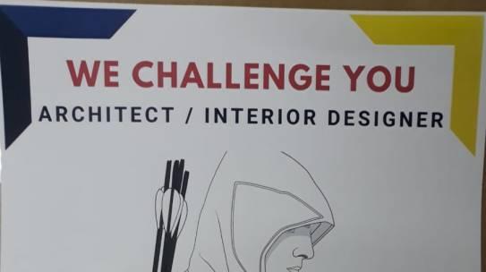 OPEN RECRUITMENT JOB : WE CHALLENGE YOU ARCHITECT / INTERIOR DESIGNER